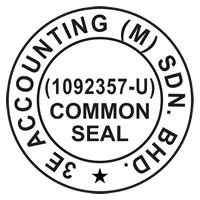 Standard Common Seal Artwork for Company – 35 mm diameter