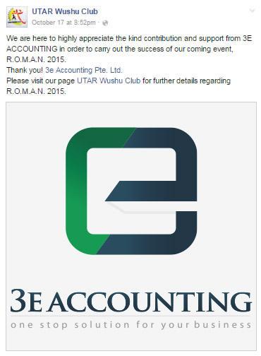 3E Accounting UTAR Wushu Club