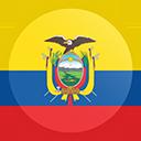 icon ecuador flag round