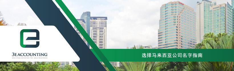 选择马来西亚公司名字指南