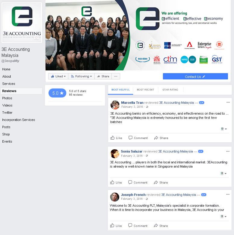 马来西亚3E会计面子书评论