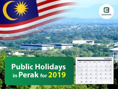 Public Holidays in Perak for 2019