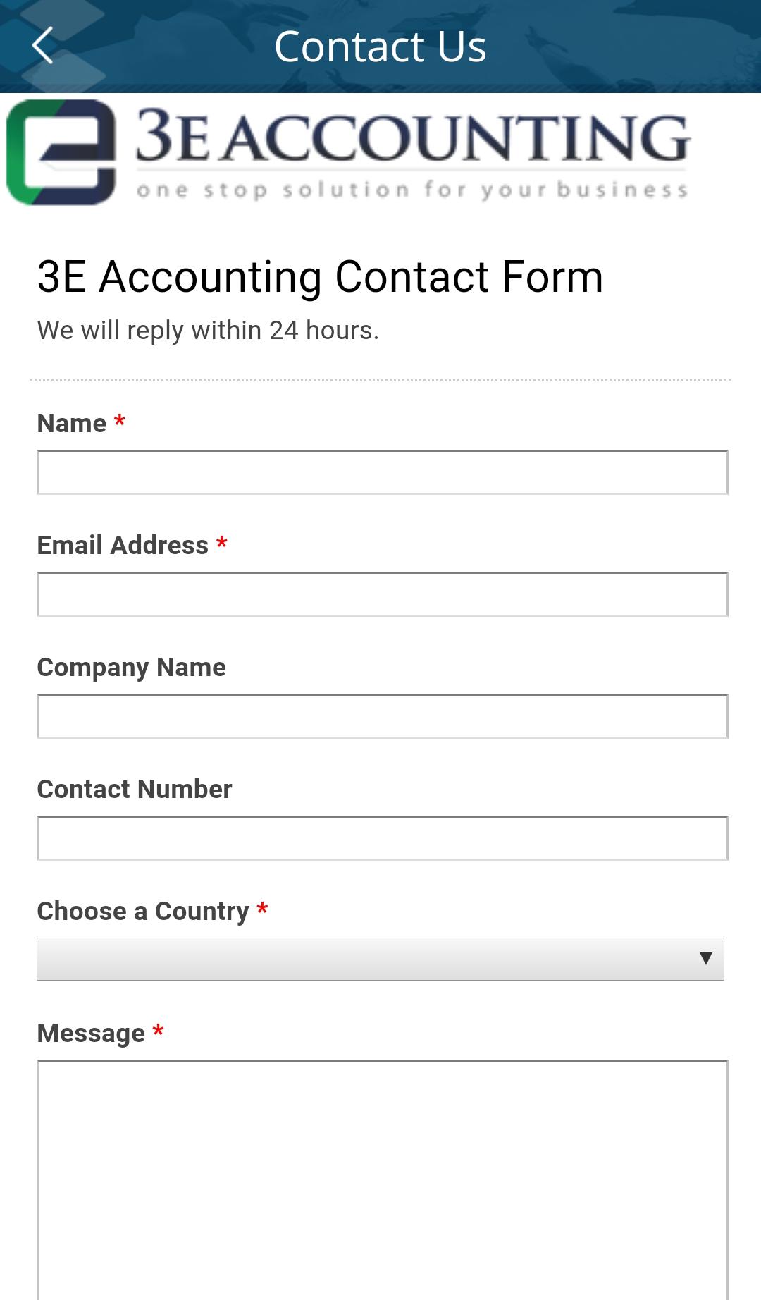 填写我们的联系表格