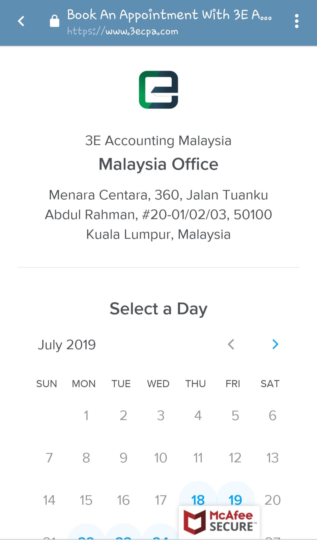 选择您的首选预约日期和时间