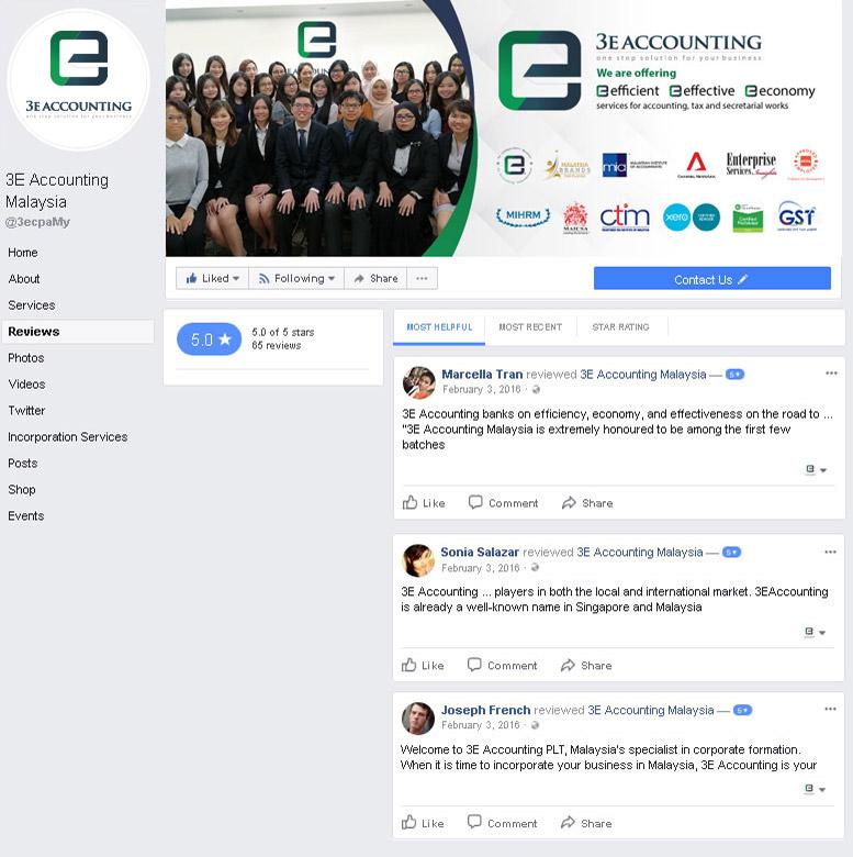 3E Accounting Malaysia Facebook Review