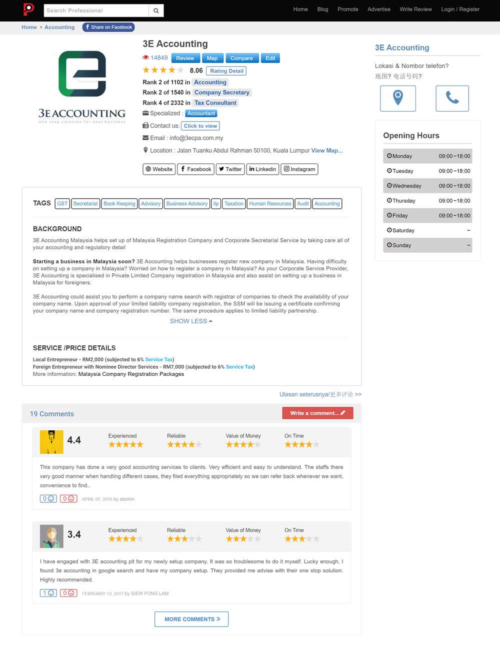 3E Accounting Malaysia Lookp Reviews