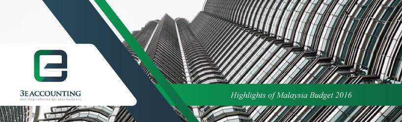 Highlights of Malaysia Budget 2016